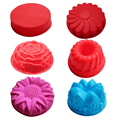 BAKER DEPOT Silicone Mold for big Cake Flower Crown shape pastry Baking Tools 3D Bread cake form Pizza Pan DIY birthday wedding