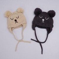 Fashion Autumn Winter Baby Hat Girl Boy Toddler Infant Cartoon Bear Cat Kids Caps Newborn Photography