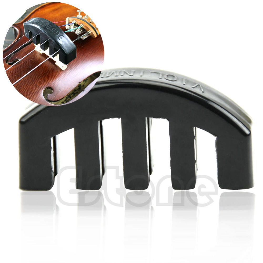 Hot Violin Practice Heavy Black Rubber Violin Mute Silencer Acoustic Electric