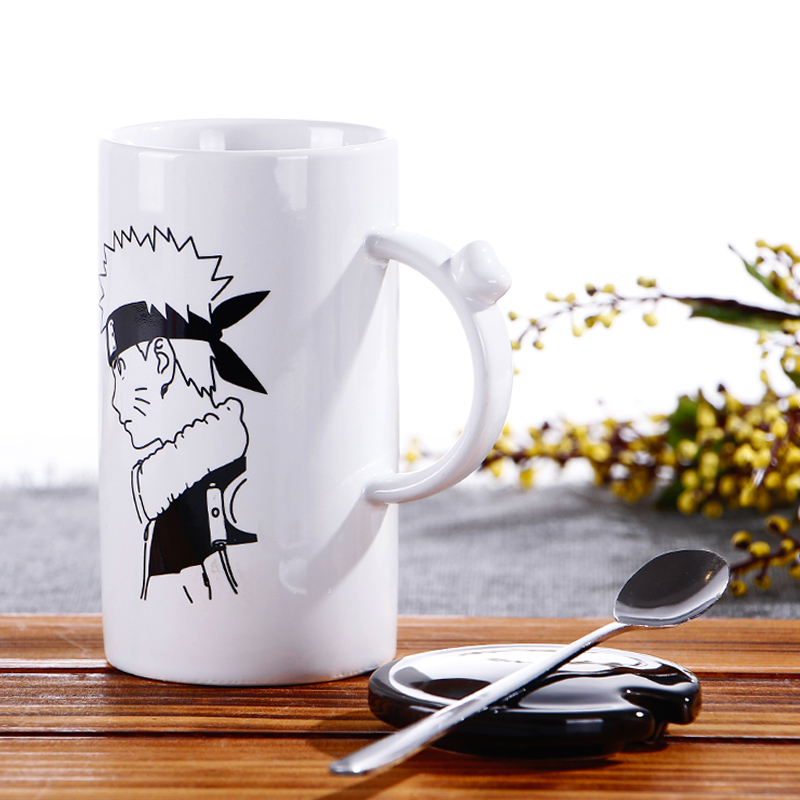Naruto Ceramic Cup With A Spoon 4 Types Free Shipping