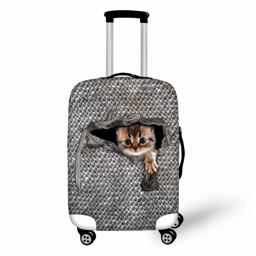 Noisydesigns Кошка Лошадь Чемодан защитные чехлы, единорог Водонепроницаемый чемодан Крышка для 18-28 дюймов Чехол Эластичный дорожные аксессуары