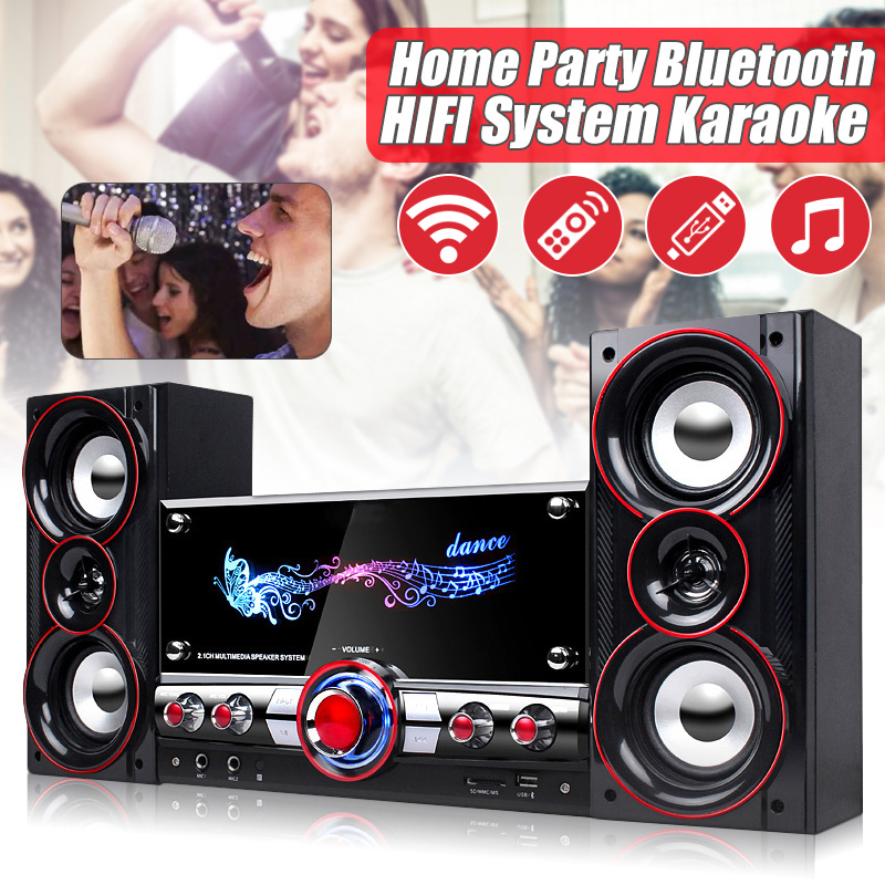Home Party Wireless HIFI System Karaoke Bluetooth Devices 3D Surround Sound Music Center System for Relaxing Yourself Speakers usb bluetooth portable active speakers 20w high power music center hifi sound box acoustic system%2