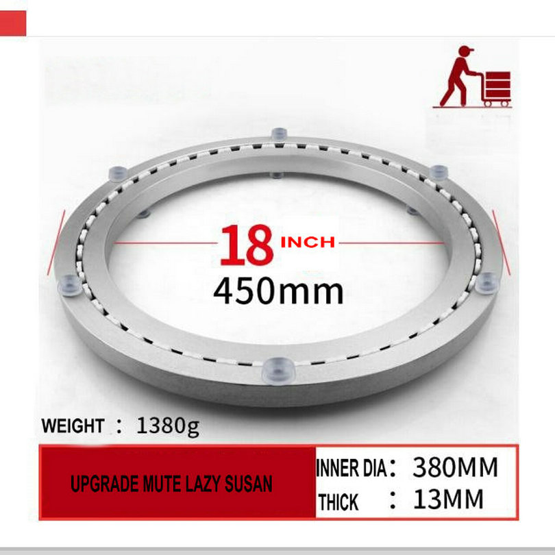 SS M18INCH/45CM MUTE STRAP ADVANCED Furniture Hardware Accessories Lazy Susan Aluminum Swivel Plate