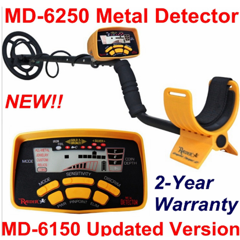 New Arrival MD-6250 Underground Metal Detector MD6250 Gold Digger Treasure Hunter \ MD6150 Updated Version Two Year Warranty lowest price hot md 3010ii underground metal detector gold digger treasure hunter md3010ii ground metal detector treasure seeker