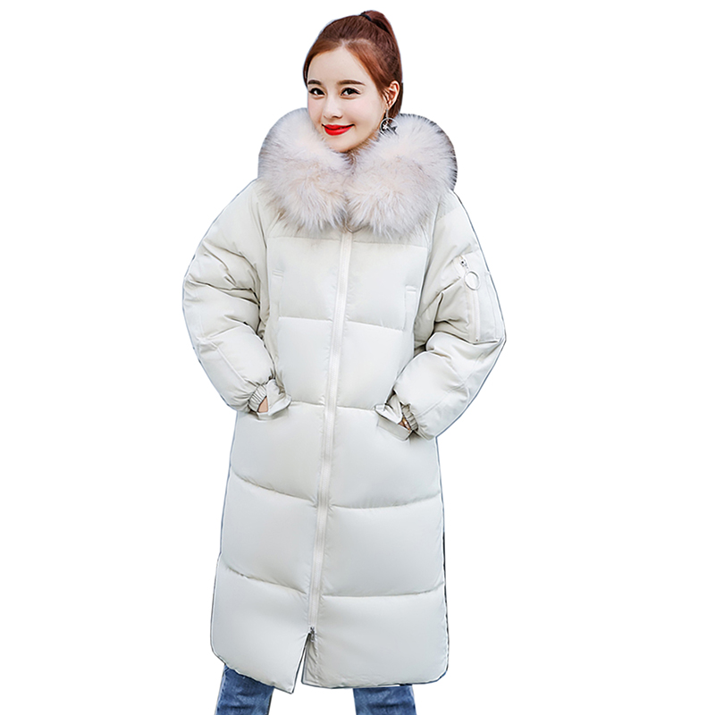 Women Winter Coat Jacket Women Cotton Long Down Jacket 2018 Female plus Size length Warm winter   parka   women High Quality Outwear