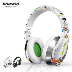 Bluedio A(Air) Bluetooth Headphones/Wireless Headset Fashionable Printed Wireless Headphone For Phone