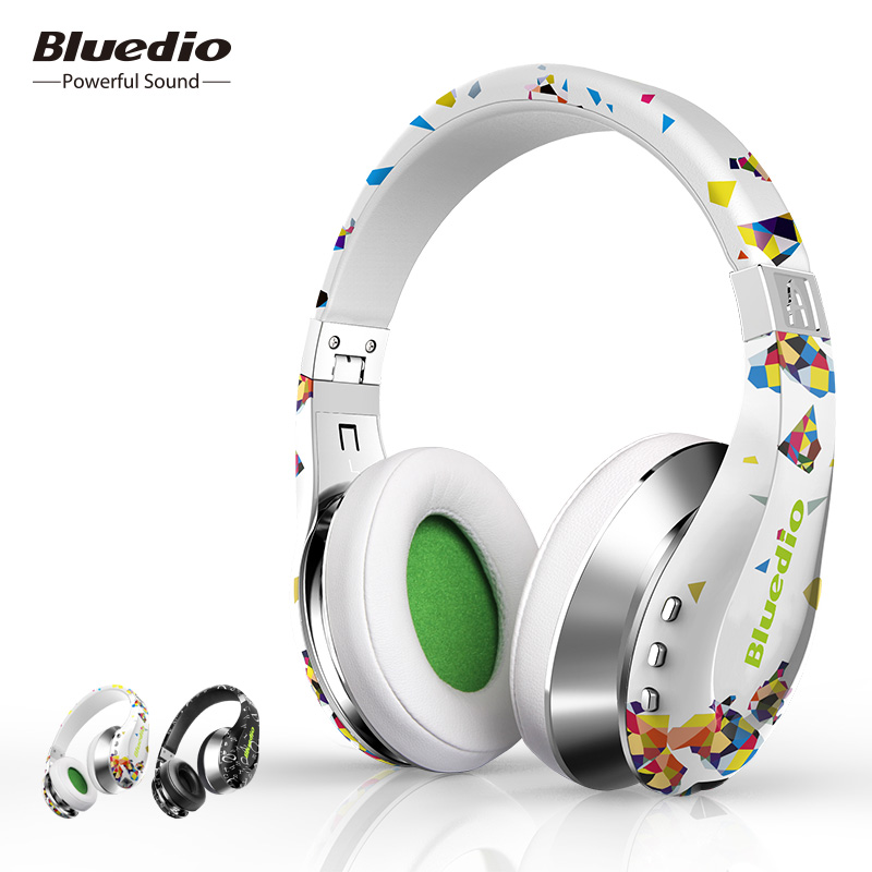 Bluedio A(Air) Bluetooth Headphones/Wireless Headset Fashionable Printed Wireless Headphone For Phone-in Phone Earphones & Headphones from Consumer Electronics on AliExpress