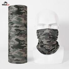 3D Seam Neck Gaiter Motorcycle Half Face Mask Warmer Tube Shield Bandana Scarf Men Women Military Army Camouflage Headband