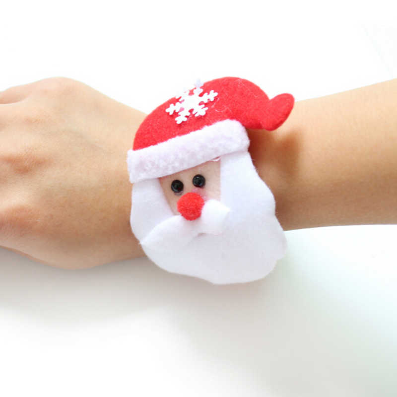 2018 Santa Claus Slap Circle Bracelet Christmas Party Decoration Xmas Gift New Year Party Toys christmas decorations for home