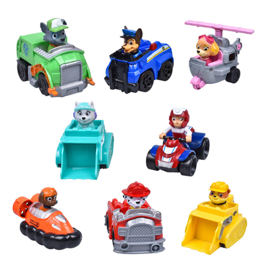 2016 Russian Cartoon Canine Patrol Puppy Dog Toys Car Action Figures Model Kids Gift Patrulla Canina juguetes