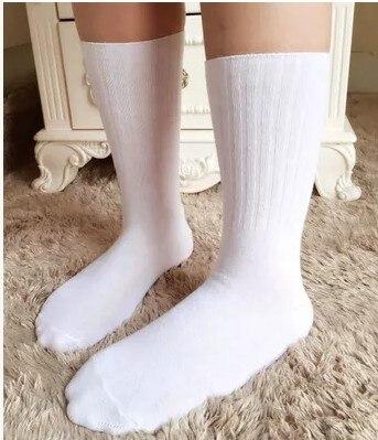 Fcare 8PCS=4 pairs School men dress socks socks cotton Performance socks white cotton socks