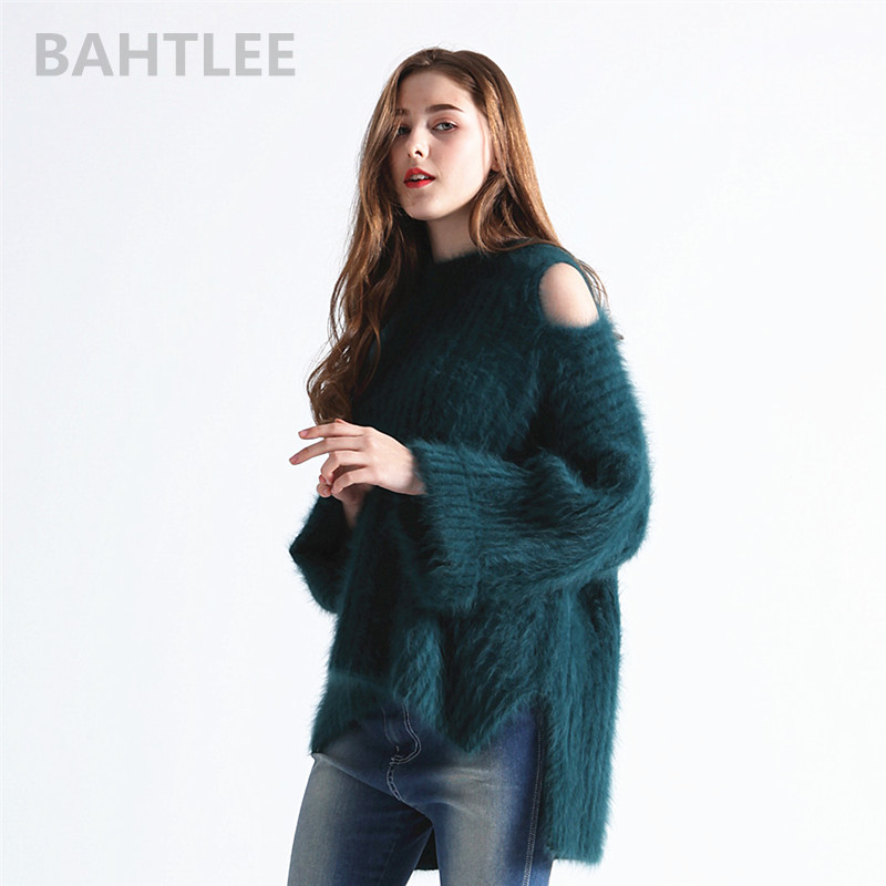 BAHTLEE O-neck high elasticity loose knitted sweater B1676