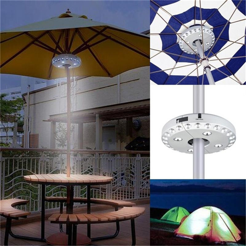 TTLIFE Patio Umbrella Light 3 Modes 28 LED Lights Pole Lamp for Camping Tents Outdoor Festive & Party Supplies Accessories(China)