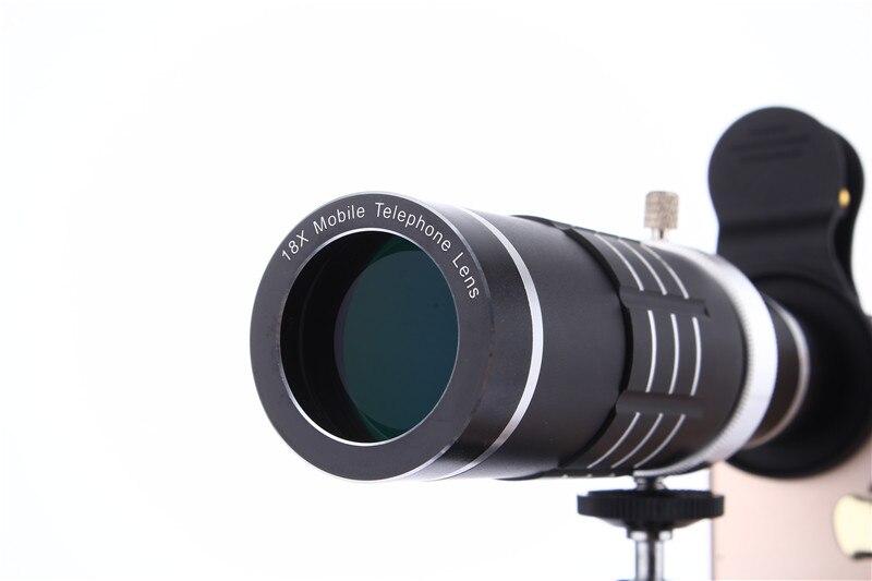 Universal 18x zoom lensa kamera lensa tele ponsel dengan mini tripod