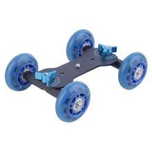 Мини рабочего Mute шкив Drift автомобилей гибкие 4 колеса Rail подвижного трек слайдер Конькобежец Таблица Долли автомобилей для DSLR Камера видеокамера