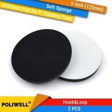 цена на 2PCS 5 Inch(125mm) Soft Sponge Interface Pads for Back-up Sanding Pad and Hook&Loop Sanding Discs for Uneven Surface Polishing