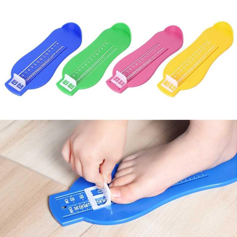 เด็กทารกเท้าวัดขนาดเครื่องมือวัดไม้บรรทัดเด็กทารกรองเท้าเด็กวัยหัดเดินทารกรองเท้าอุปกรณ์ Gauge วัดเท้า