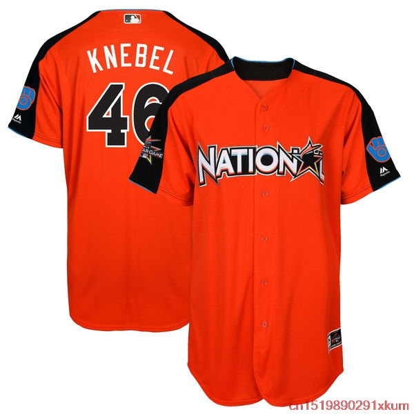 mlb mens national league corey knebel best46 baseball orange 2017 mlb all star game home run derby p