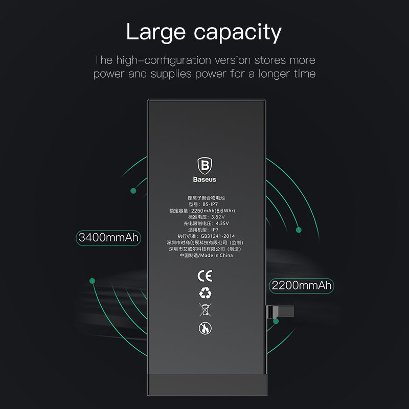 Image 2 - For iPhone 7 7 Plus 7plus Battery Baseus Mobile Phone Battery High Capacity Bateria Original Replacement Batterie For iPhone7 7p-in Mobile Phone Batteries from Cellphones & Telecommunications