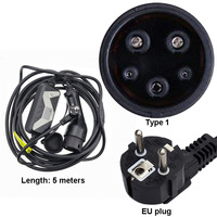 EVSE Electric Vehicles Car Charger J1772 Type 1 20A Fast chargring European Adapter Plug