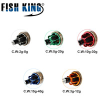 FISHKING Hi Carbon 5 Color 2.1M-2.7M 2 Section Soft Lure Fishing Rod Lure Weight 2-40g Spinning Fishing Rod For Lure Fishing