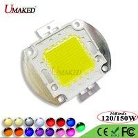 Высокая мощность 120 Вт 150 Вт светодиодный COB SMD Epistar 50mil световые чипы теплый белый холодный красный синий зеленый желтый светодиодный прожект...