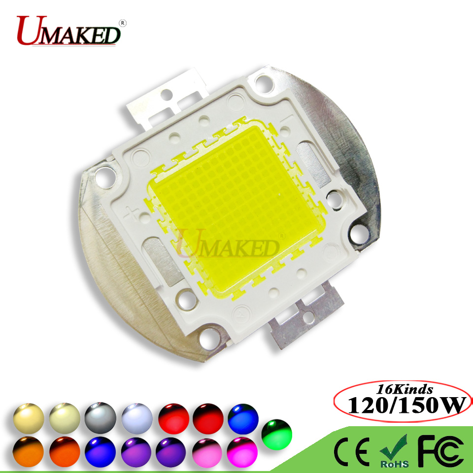 High Power 120W 150W LED Chip SMD Epistar 50mil Light chips Warm White Cool Red Blue Green Yellow led Bulb Spotlights COB Diode high quality 30w cold warm white cob high power led stripe led light chip emitting diode bulb 3000lumen 800ma 36 39v 2pcs lot