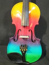 Handmade Colorful Electric / Acoustic Violin 4/4 Perfect Sound including Case  bow