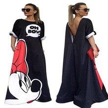 Minnie Mouse Dress Printing Dot Sleeveless Party Dress Girl Костюмы Хэллоуин Летние котто Minnie Mouse Backless mop dress