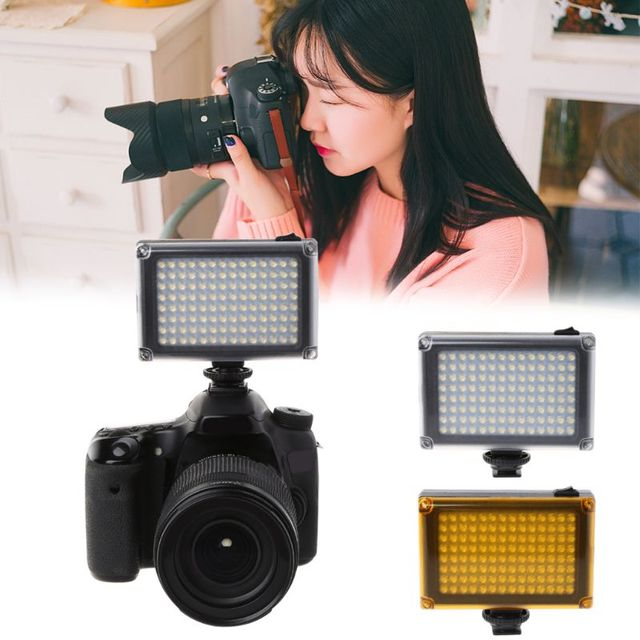 Flash Shoot FT 112LED Luz de vídeo para cámara DV videocámara Canon Nikon Minolta