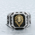 BEIER Cool Ring`s For Man 316L Stainless Steel Gold Lion Head Ring Fashion Top Quality ring Punk jewelry BR8-389