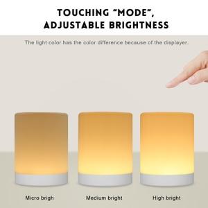 Image 3 - נטענת חכם LED מגע בקרת לילה אור אינדוקציה דימר המיטה חכמה נייד מנורת Dimmable RGB צבע שינוי