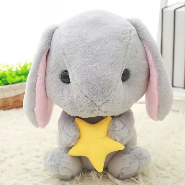 Rabbit Plush Toy Cute Bunny Stuffed Soft Doll Christmas Gift For