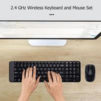Logitech MK220 104 Keys Wireless Keyboard 1000dpi Mouse USB Receiver Set Free to Roam Much Smaller Design 2.4 GHz wireless