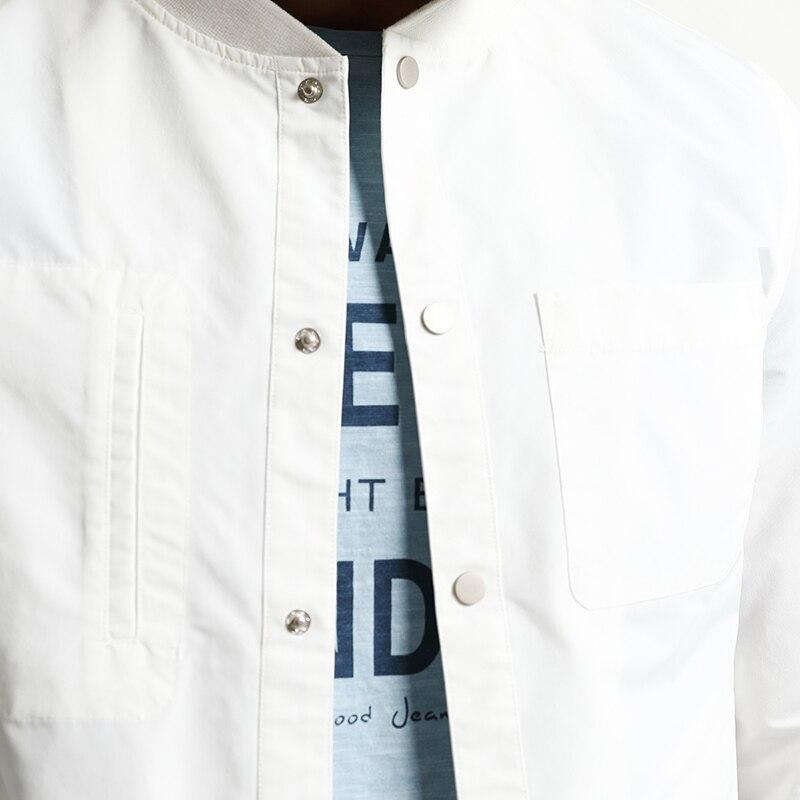 La Veste 2019 Fit Vêtements Marque Manteaux Green Mode Plus Black Nouveau white Mince Slim Wj1665 Survêtement Hommes Taille Simwood Printemps Bomber gray 6qFdpCq