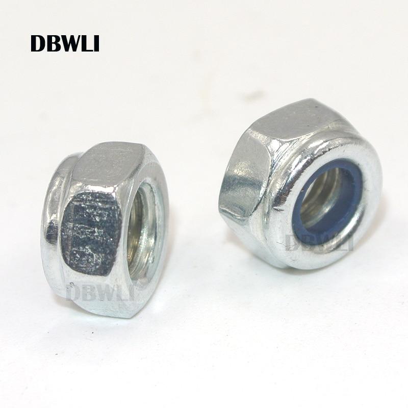 20 Pcs M4 Nuts Flanged Nylon Lock Nut Nylock Self-lock Aluminum Nuts Blue