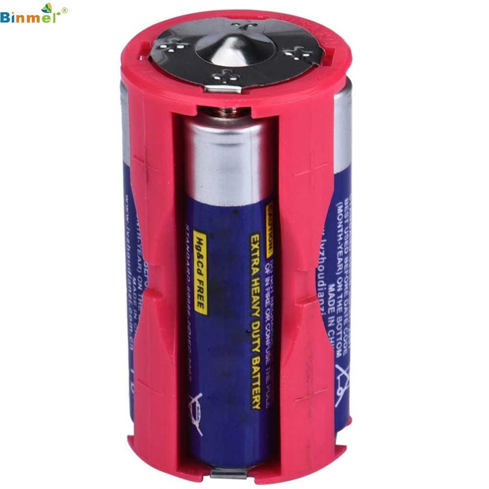 Adaptador de célula paralela bateria titular dc 1.5 v caso caixa converter 4 aaa para 1 c tamanho 18650 caixa diy power bank bateria titular circuito