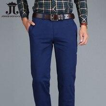 Mens מכנסי כותנה באיכות גבוהה כותנה מכנסי קזואל למתוח זכר מכנסיים גבר ארוך ישר בתוספת גודל מכנסי כותנה מכנסיים