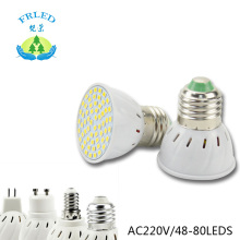 FRLED LED Spotlight E27 E14 MR16 GU10 Led Lamp 2835 SMD Led Bulb 48 60 80 Leds White/Warm White Bombillas Spot light Lampada