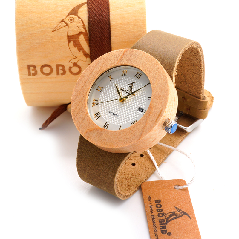 watches strap wooden dp brown quartz bamboo bobobird japanese movement watch genuine with leather casual natural