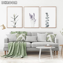 Botanical Wall Art Print Watercolour Lavender Canvas Painting Poster Nordic Minimalist Decoration Decor