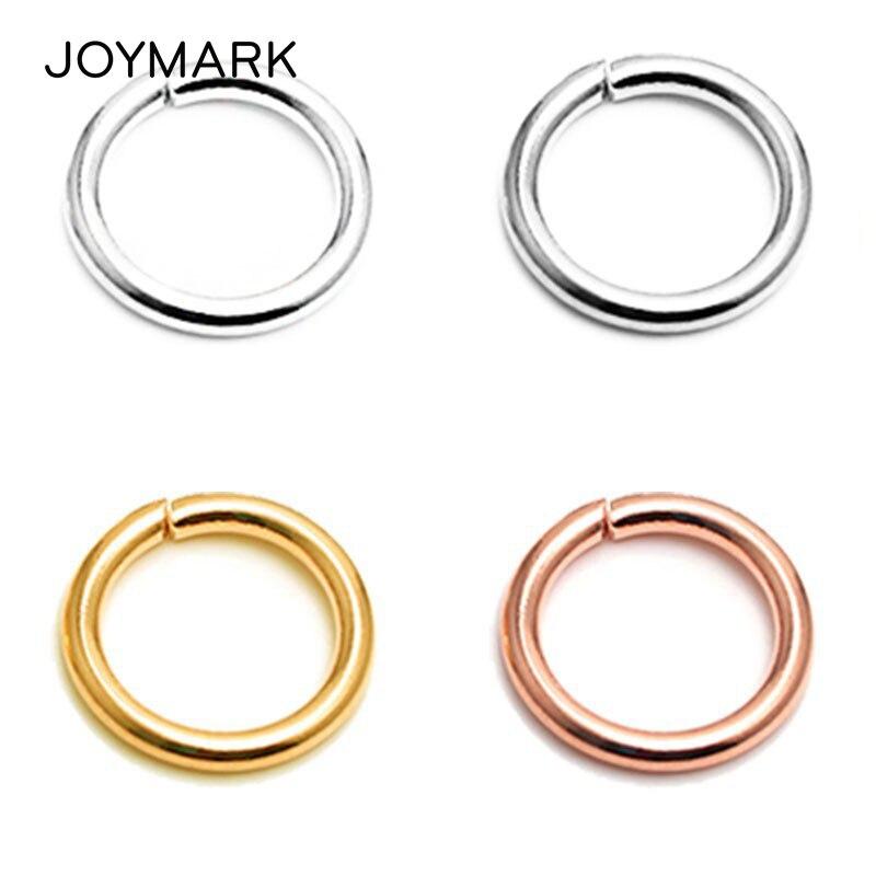 4mm-16mm 10 tailles rond ouvrable 925 en argent Sterling anneaux de saut anneaux fendus bricolage bijoux résultats SJR-OR0.8X5.0mm