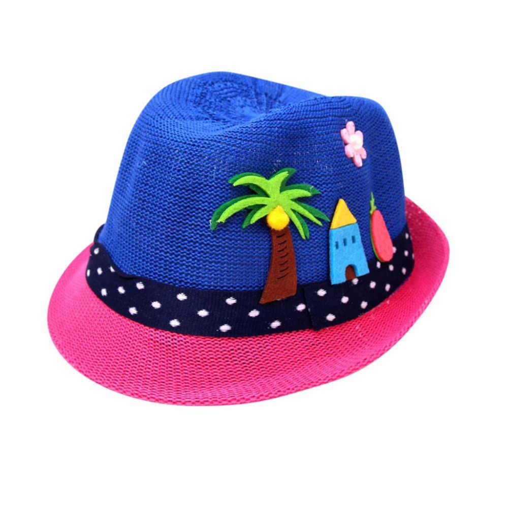 SAGACE nueva moda verano bebé dibujos animados niños tapa respirable Popular sombrero de paja niños niñas sombrero de sol