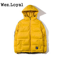 Wez Loyal New Thick Hooded Parka Jackets Coat Men S 2018 Winter Full Zip Up Padded