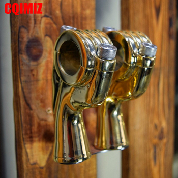 Brass Motorcycle 1 Inch Handle Bar Risers Clamps For Harley Aftermarket Old School Handlebar Risers фото