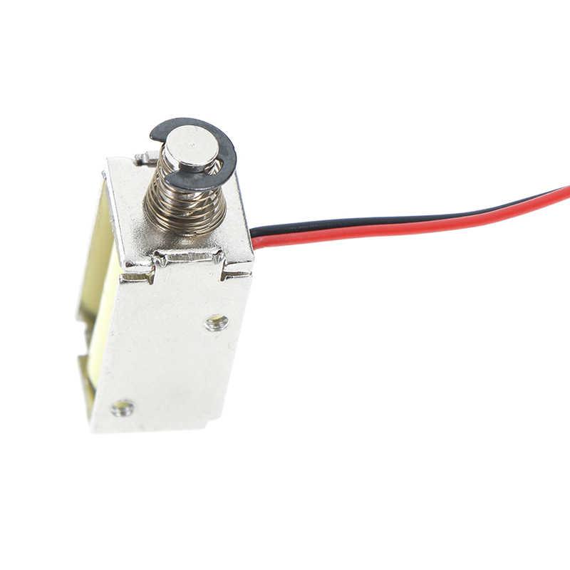 DC12V 120 mA 1,5 W succión Micro electroimán de resorte Push Pull tipo imán de solenoide 4mm