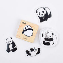 Adesivo de panda de animais fofos, decoração diy, álbum de recortes, papelaria kawaii, etiqueta, adesivo de rótulo