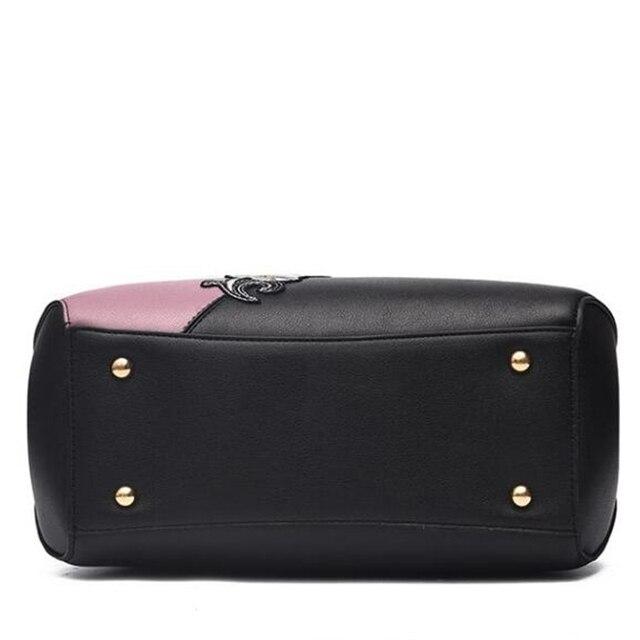 Modernos bolsos de mano para mujer, de piel sintética, con bordado, de marca, bolso de hombro de lujo, Color de éxito, Asa superior, bolsos de mano, bolsa de mensajero de flores