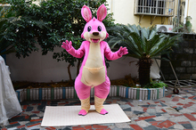 Pink Kangaroo Mascot Costume Adult Cartoon Character Outfit Suit Holiday Party Appreciation Banquet Mascot Apparel mascot adult costume hot cartoon character pink panther mascot costume leopard fancy carnival for school