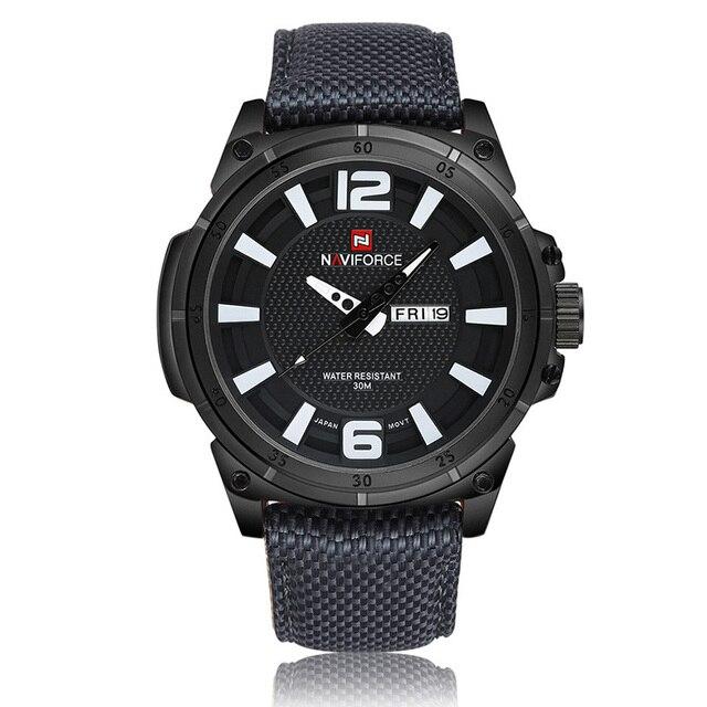 Mens Sport Watches Men Wristwatches High Quality Wrist Watch Men's Quartz Clock Top Brand Luxury Fabric Watch Calendar Relojes